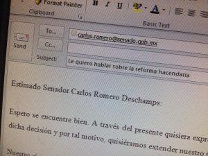 Si le escribo a Carlos Romero Deschamps