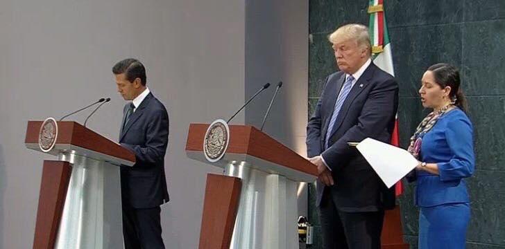 Peña Nieto y Donald Trump, ¡Vergüenza histórica!
