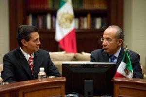 Felipe Calderón y Peña Nieto