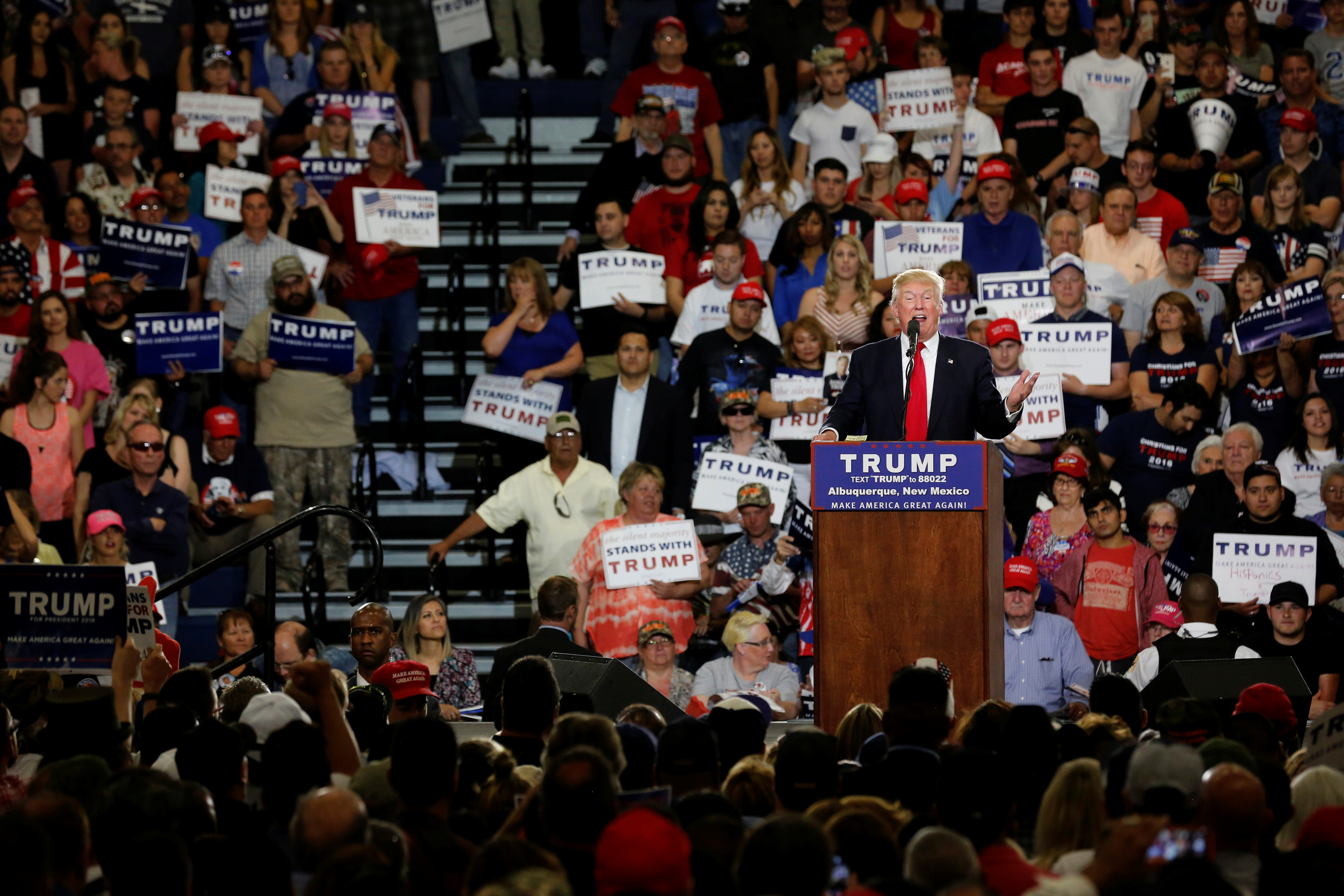 Trump holds a rally with supporters in Albuquerque