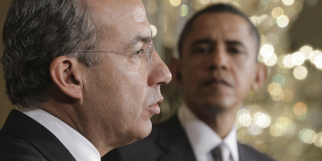 Barack Obama, Felipe Calderon