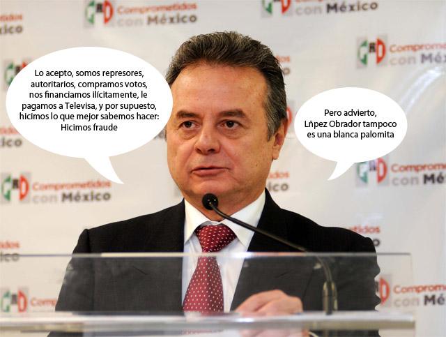 Andrés Manuel López Obrador también se financió ilícitamente, dijo el PRI