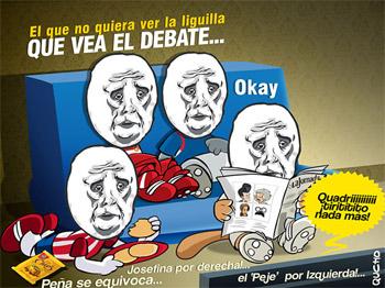 El debate entre el debate y un partido de futbol