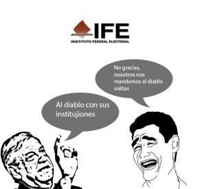Desconfianza en las instituciones