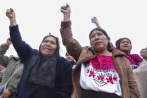 Una indígena en Los Pinos