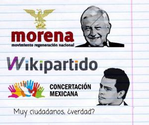 MORENA, Concertación Mexicana, Wikipartido. Los nuevos partidos políticos