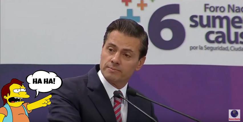 Ha ha! Peña Nieto, el bully