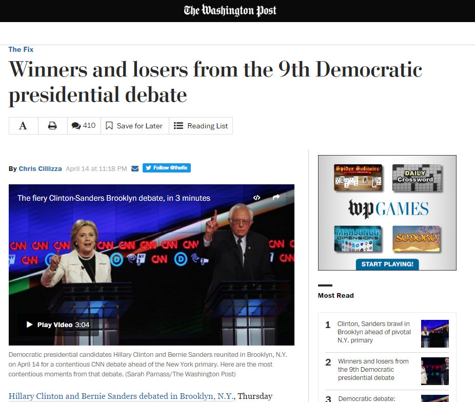 The Washington Post debate